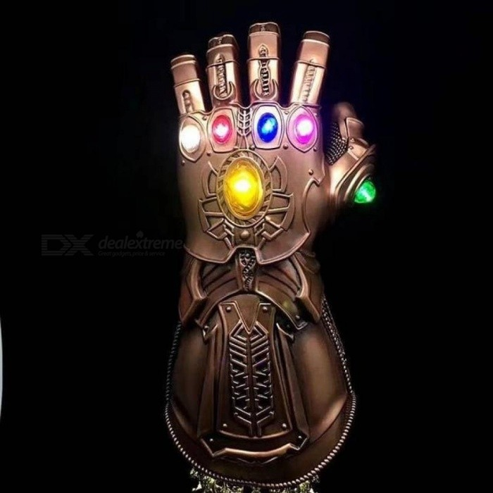Thanos Led Infinity Gauntlet Action Figures Cosplay Superhero Iron Man  Anime Avengers Infinity War Thanos Led Glove Halloween No Leg