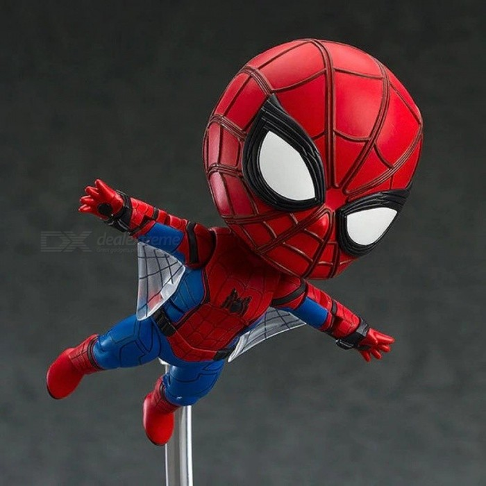 Anime Marvel Avengers Nendoroid 781 Cute Spiderman Kawaii Spider-Man 10cm  Action Figure Toys PVC Material No Retail Package