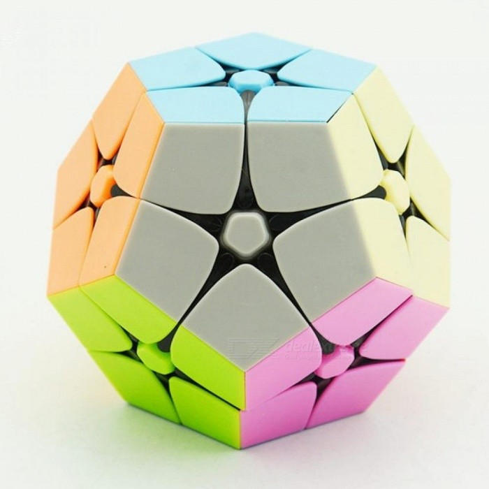 Colorful 2x2x2 Megaminx Magic Cube Stickerless Speed Cube Twisty Puzzle Toy For Children Adults Plastic