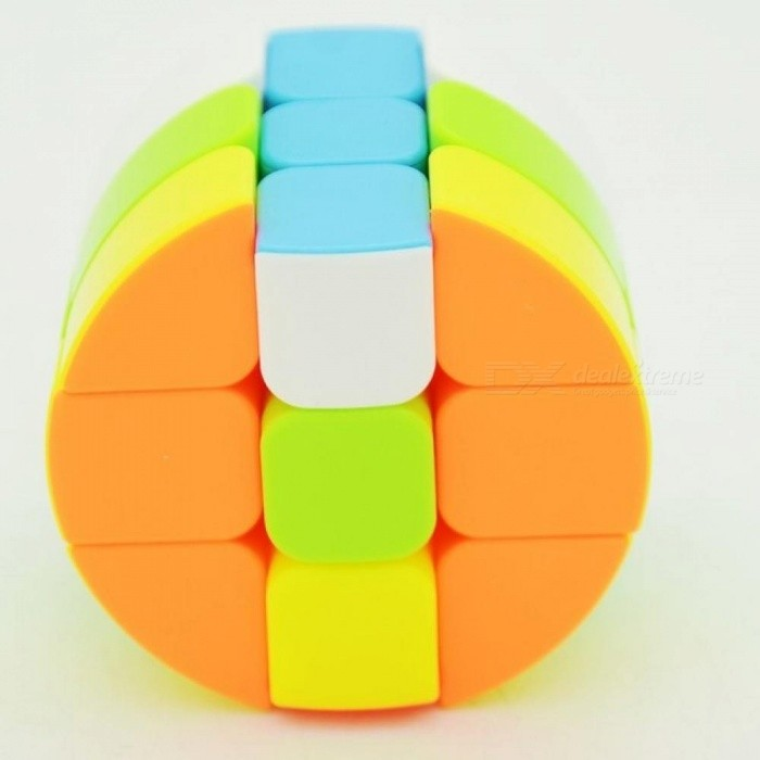 3x3x3 Cylinder Magic Cube Stickerless Bright Educational Twisty Speed Puzzle Toys For Children Professional Cubo Magico