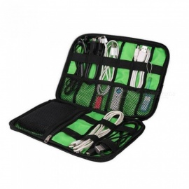 Waterproof Ipad Organizer USB Data Cable Earphone Wire Pen Power Bank Travel Accessories Case Digital Gadget Devices Bag Yellow
