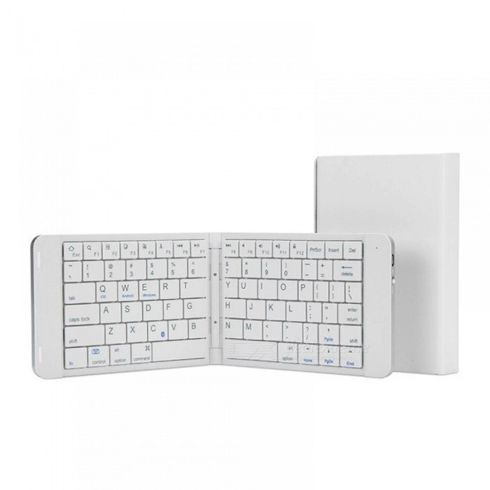 Foldable Metal Bluetooth Keyboard General For Android iPad Tablet Mobile  Phone Portable Mini External Wireless Keyboard Silver