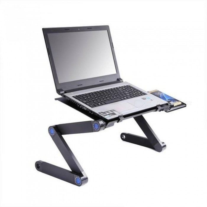 Aluminum Alloy Adjustable Laptop Table Portable Folding Computer Desk  Notebook Desktop Stand Computer Table For Sofa