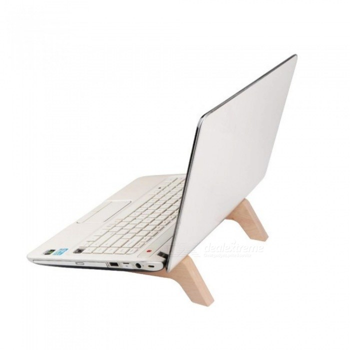 Portable Wood Rack for 11 To 15.6 inch Laptop Computer Desktop Stand Add Height Notebook Bracket for Macbook Dell Lenovo