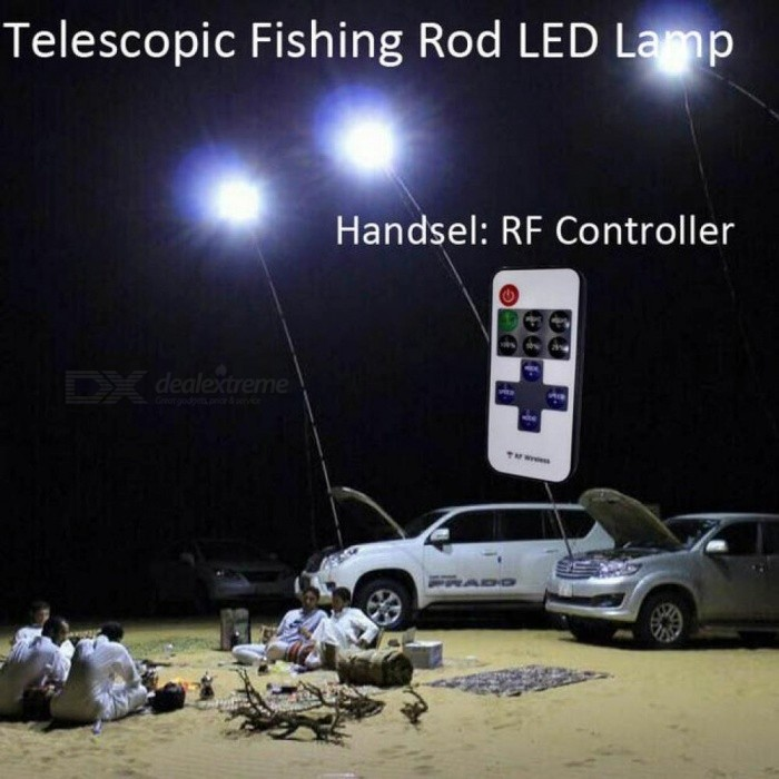 12V 4M Telescopic Fishing Pole LED Lights Outdoor Camping Light Mobile Street Lights Night Road Trips