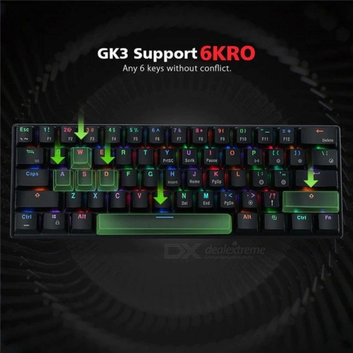 Bluetooth Wired Dual Mode Cherry Switch RGB 60% Mechanical Gaming Keyboard LED Backlit Ergonomic Keyboard