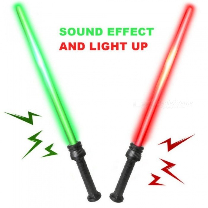 Kids Laser Sword with Sound and Light Classic Fighters Galaxy Warrior Weapons Lightsaber Toy Pretend Play Set for Children 2PCS