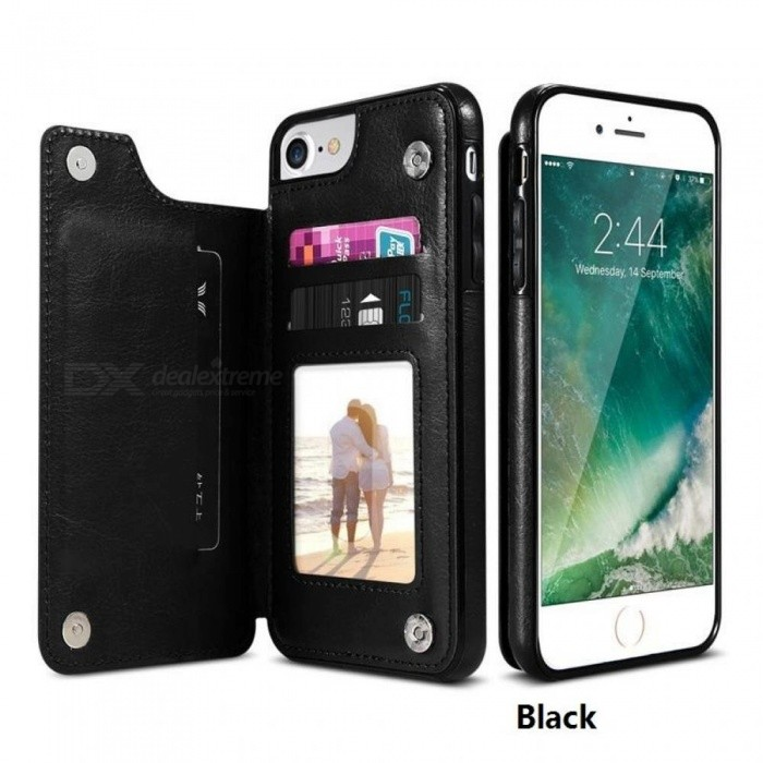 Retro PU Leather Case For iPhone X 6 6s 7 8 Plus XS 5S SE Multi Card Holders Phone Cases For iPhone XS Max XR 10 Cover
