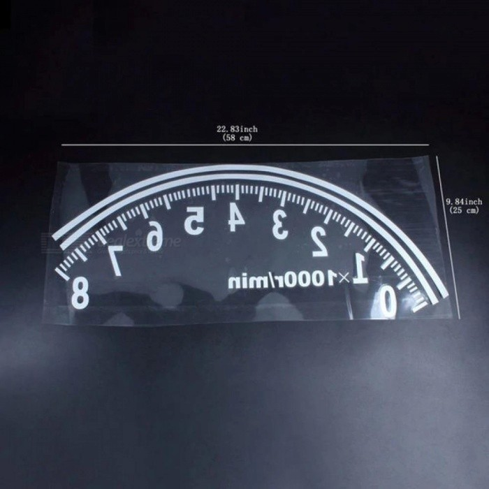 1 X Car-Styling Sticker Rear Window Reflective Speedometer Sticker Decal For All Car Decoration Cool