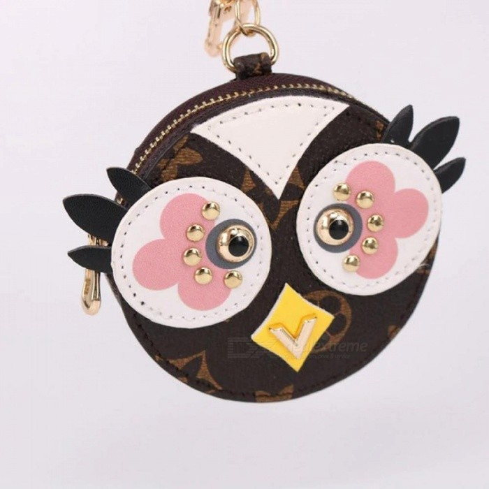 Cute Fluffy Owl Keychain Rex Rabbit Fur Pom Poms Keychain Fur Pom Pom Keychain Bag Charm Car Pendant Key Ring Holder