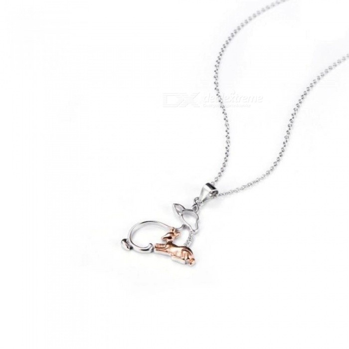 95be7cc6e 925 Sterling Silver Jewelry Necklace Mother & Baby Deer Pendants Necklaces  Animal Jewelry Mom Best Mother's