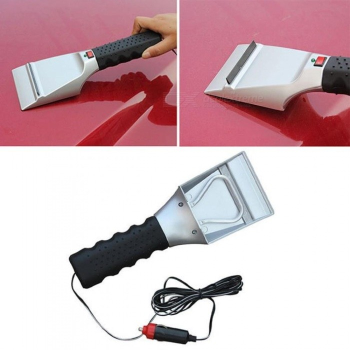 12V Car Electric Snow Scraper Heated Ice Scraper Auto Windshield Melter Shovel Ice Scoop For Car Windscreen Snow Scraper Tool