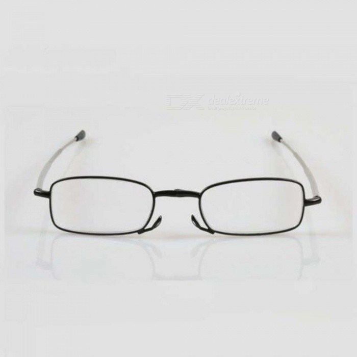 Folding Reading Glasses Men Women Exquisite Anti Fatigue Foldable Business Presbyopia Eyeglasses Black Frame