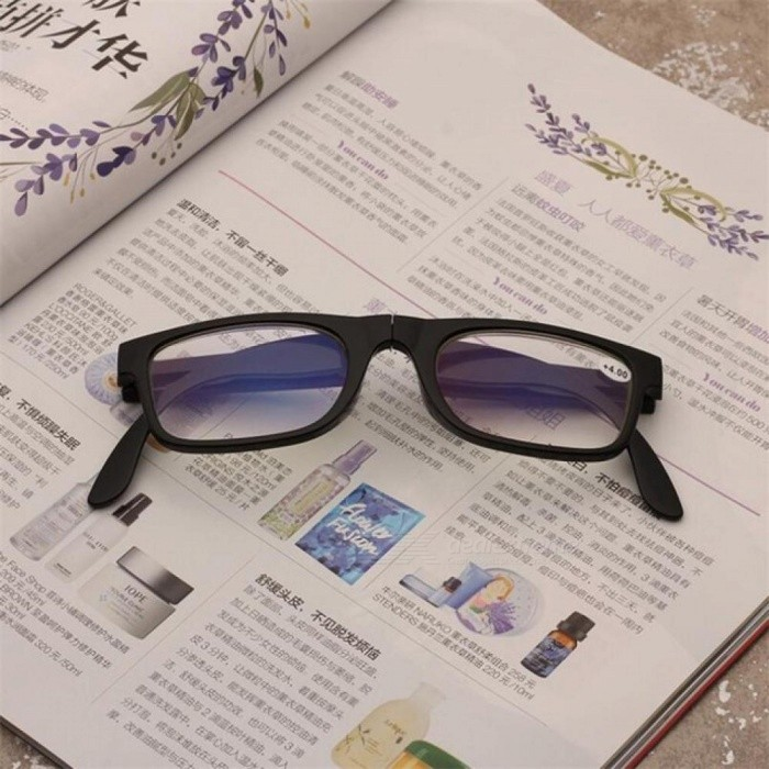 Folding Anti-reflective Clear Presbyopic Glasses Black Frame Glasses Magnifier Cheap Reading Glasses For Unisex