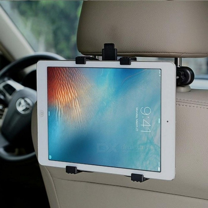 Car Holder For Back Seat Tablet Stand Headrest  For Tablet 10.1 For Ipad Air 2 For Kindle Paperwhite Black