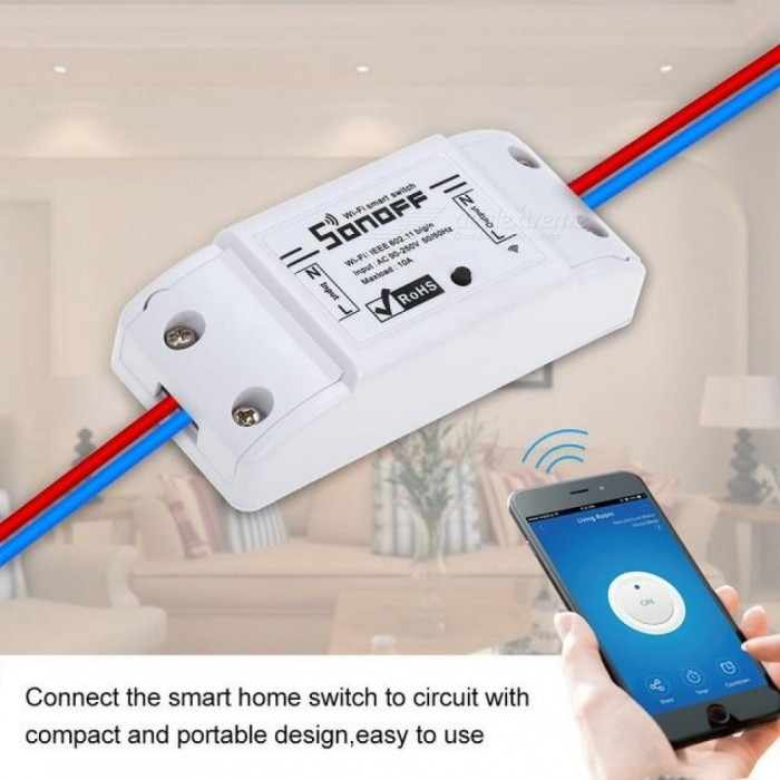 Basic Wireless Wifi Switch Remote Control Automation Module DIY Timer Universal Smart Home 10A 2200W/220v for Alexa 5 PCS