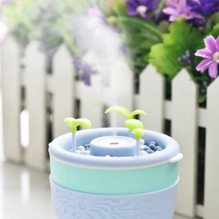 Negative Ion Plantable Ultrasonic Air Humidifier Creative Office Home Bonsai Style Mist Maker Mini Essential Oil Aroma Diffuser