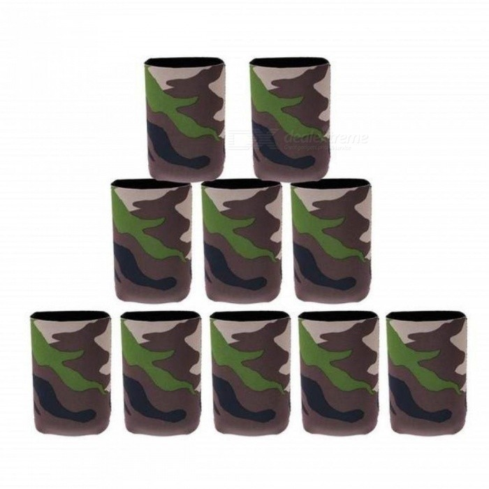 Camouflage Beer Can Cooler Soda Beverage Sleeve Holder Wrap Hens Night Party Favors Gifts 10 Pieces / Lot