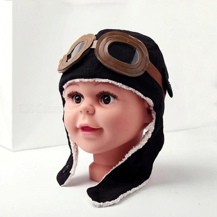 Unisex Bomber Hats Child Pilot Aviator Hat Earmuffs Beanies Kids Autumn Winter Warm Earflap Ear Protection Cap Child Accessories