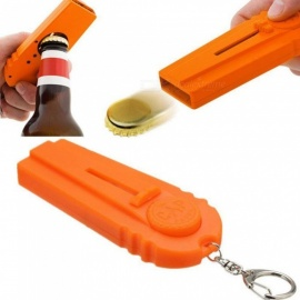 High-Quality Kitchen Cooking Tool Portable Flying Cap Zappa Beer Drink Bottle Opener Opening Cap Launcher Top Shooter Gun Yellow