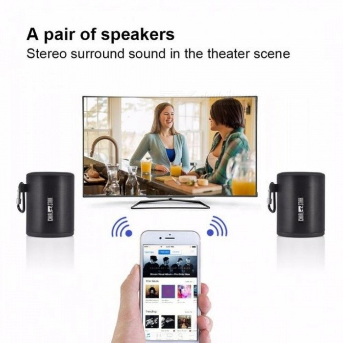 Bluetooth Speakers M3 Dual Paired 5W*2 Pcs Portable Wireless Speaker Strong Bass Audio Stereo for iPhone iPad Android Tablet