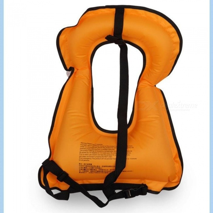 Adult Inflatable Life Jacket Snorkeling Buoyancy Swimming Floating Life Vest 52*40CM Canvas Material Multi-Color Optional