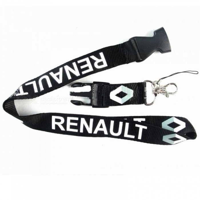 Lanyard Key Chain For Car Neck Strap ID Card Key Ring Badge Holder Clip Case For Renault Duster Megane 2 3 Capture