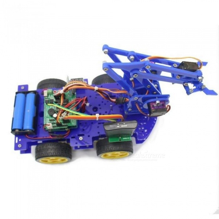 Robot Arm Car for Arduino Program with PS Wireless Remote Control Toy Model For Kids Gift Multi-Colors Optional