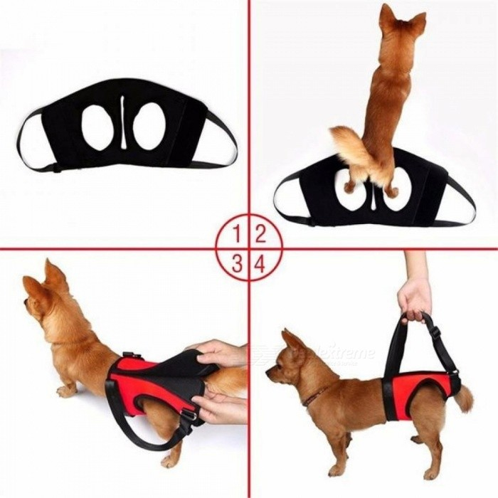 Pet Dog Harness Walk Out Hand Strap Vest Dog Lift Support Lifting Band Pets Assist Travel Kit Dog's Collar Leash Dog Harness