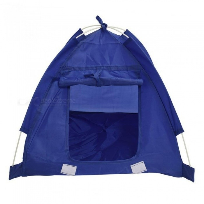 Pet Kitten Cat Puppy Dog Mini Nylon Camp Tent Bed Play House With Blue Color Nylon Material 48*48*43CM