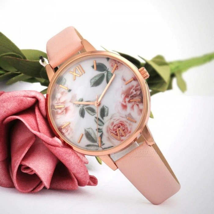 b0936f3f68b3 Rose Gold Case Lady Watch For Girls Watches Rose Flower Dial Pink Strap  Fashion Women Watch Casual Design Rose Gold - Worldwide Free Shipping - DX