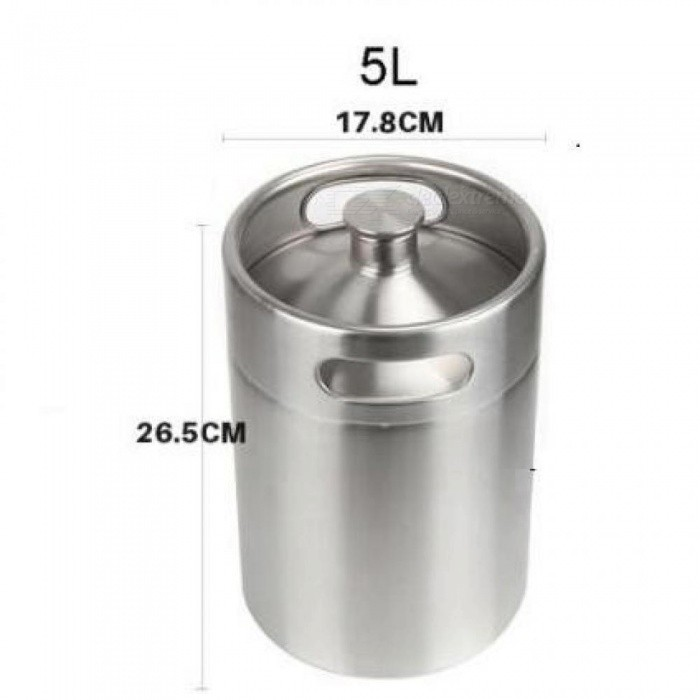 Portable Stainless 2L 3.6L 5L Capacity Mini Keg Beer Growler Home Brew Draft Beer Pail Bar Accessories