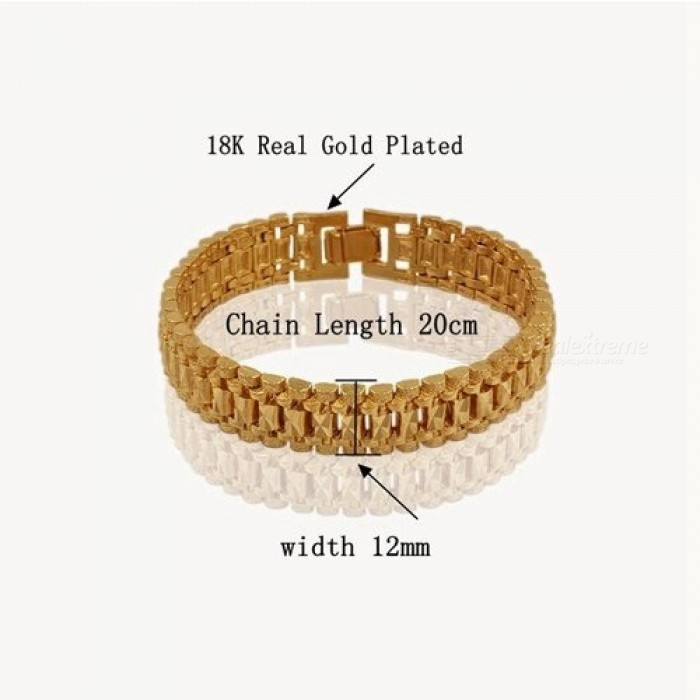 91a946b0d2 Chunky Mens Hand Chain Bracelets Mens Wholesale Bijoux Silver/Gold Color  Chain Link Bracelet For Men Jewelry Pulseira Masculina 8mm Wide 18cm Gold