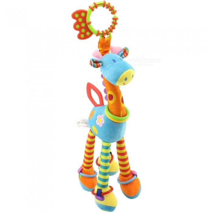 Baby Toys 0-12 Months Plush Giraffe Deer Soft Animal Bed Hanging Rattles Mobiles With Bell Ring Infant