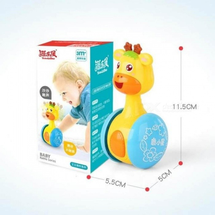 Giraffe Tumbler Doll Roly-poly Baby Toys Rattles Ring Bell for Newborns children 3-12 Month Early Educational