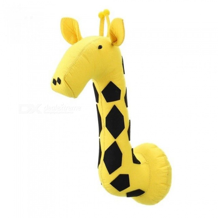 Giraffe 3D Felt Animals Head Children Bedroom Wall Hangings Decor Wall Mounted Stuffed Toys Artwork Baby Christmas Gifts