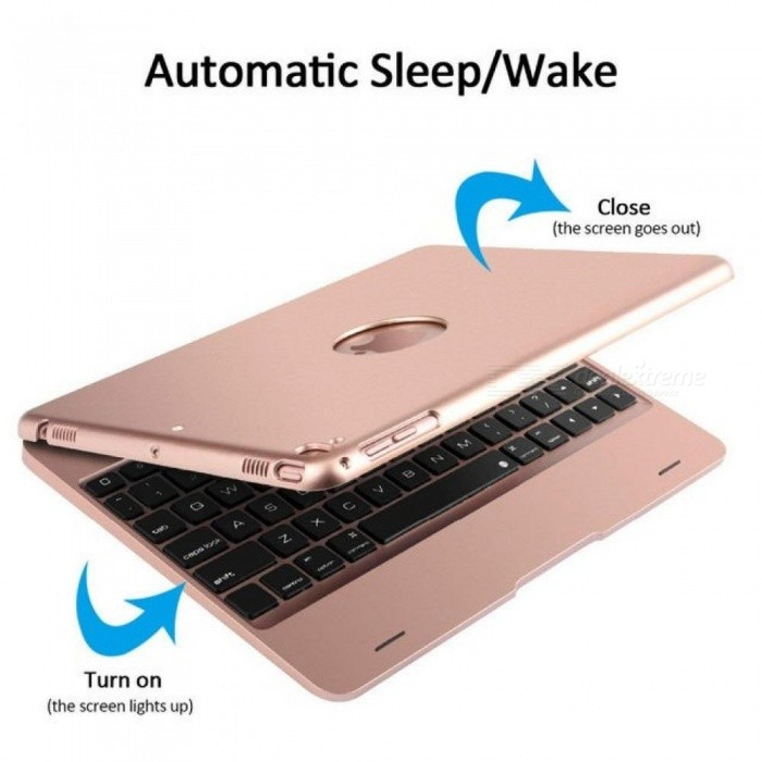 For iPad 9.7 2017 2018 A1893 Wireless Bluetooth Keyboard Case Cover For iPad 5 / 6 / Air / Air 2 / Pro 9.7 Keyboard+Film+pen