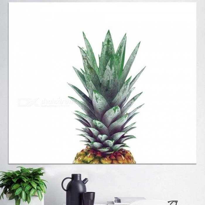 Art Style Gray Pineapple Cloth Tapestry, Multi-function Tapestry 130*150cm, Tablecloth, Wall Cloth, Wearable Beach Blanket