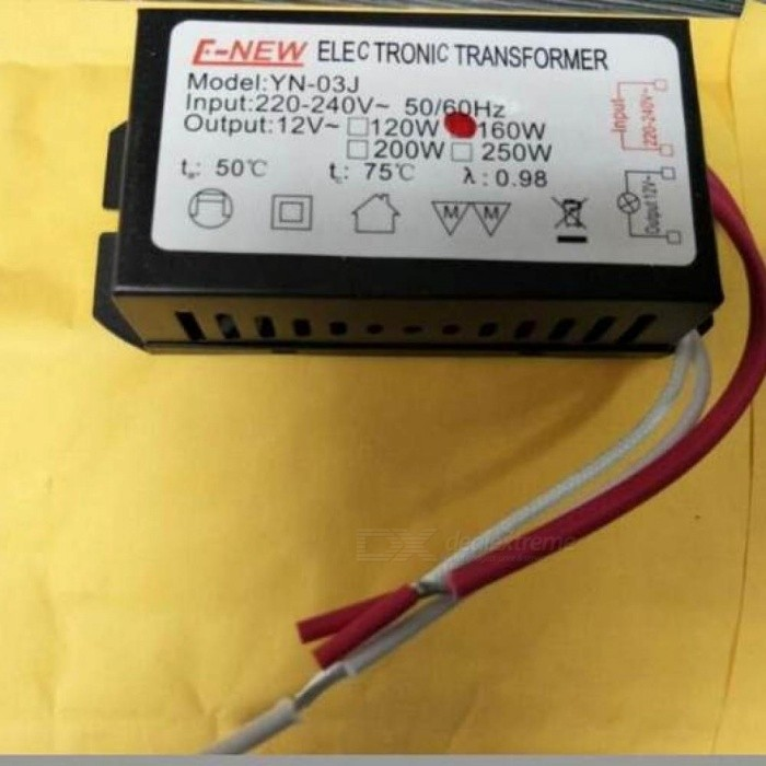 Tracking No. AC 220V-12V Electronic Transformer 160W MAX G4 Halogen Light Crystal LED Lamp Power Supply Driver 2PCS