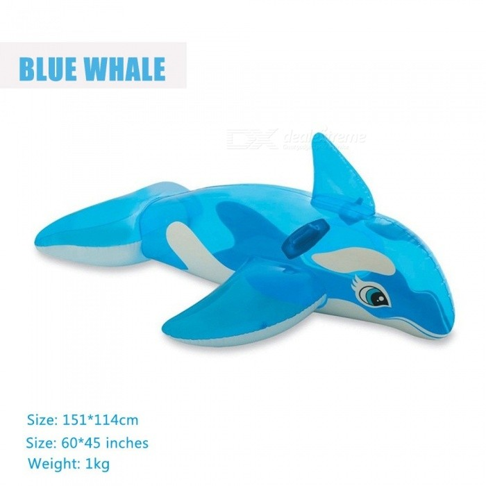 Inflatable Dolphin Whale Pool Water Float Toys Ride-On For Kids Swimming Ring Circle Inflatable Mattress Beach Sea Party