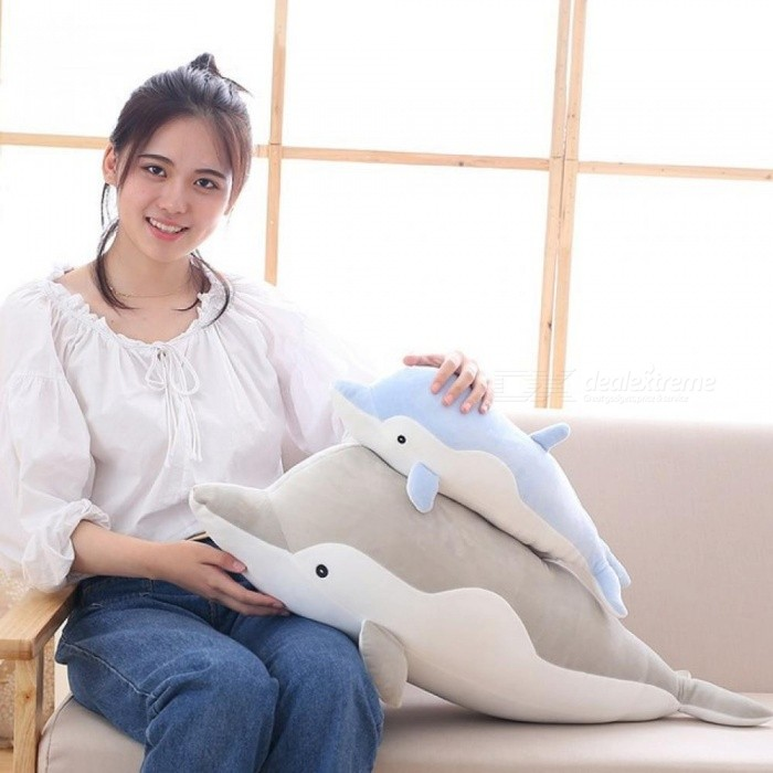 Dolphins Pillow Doll Plush Toys Dolphins Doll Present Lovers 50CM Gray / Pink / Blue Color With PP Cotton