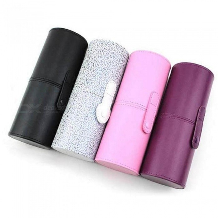 Makeup Brush Holder PU Leather Cosmetic Cup Case Pen Empty Storage Box Organizer Multi Colors For Choice