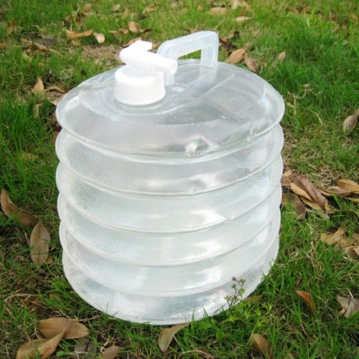 10L Collapsible Foldable Water Bottle Water Bag Bucket Hiking Fishing Picnic Handy Camping Travel Kit Water Container