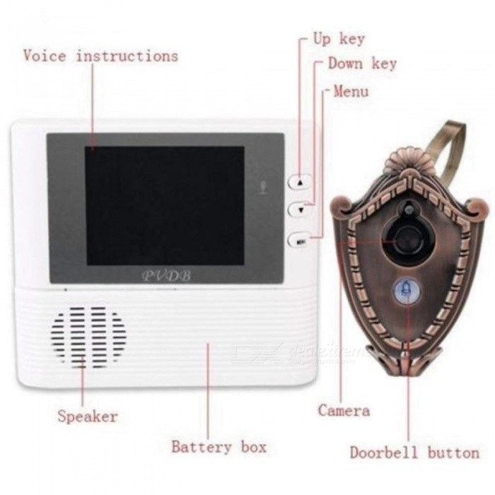 2.8 Inch Lcd digital Door Camera Doorbell peephole Door viewer eye Home Security Camera Cam Doorbell 3X Zoom