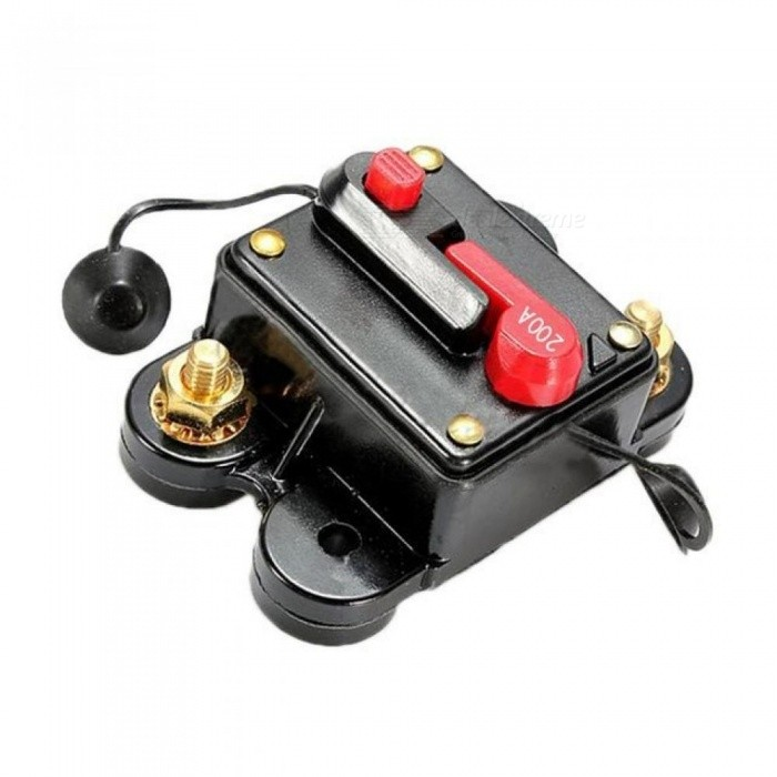 200A AMP Circuit Breaker Car Marine Stereo Audio Inline Replace Fuse 12V-24V 80*50*40MM With Black Color