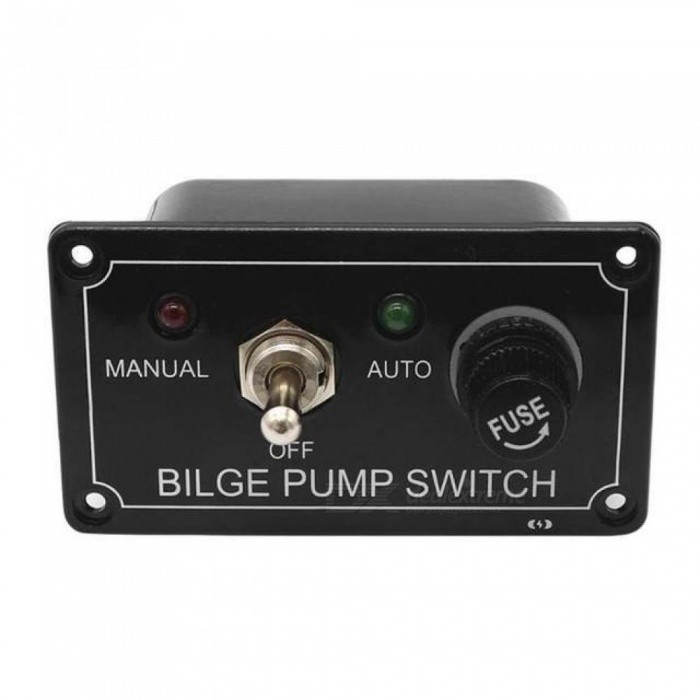 3 Way DC 12V Fused Marine Bilge Pump Switch Panel With LED Indicator Light For Vehicle Truck Boat Yacht SUV Toggle Switch
