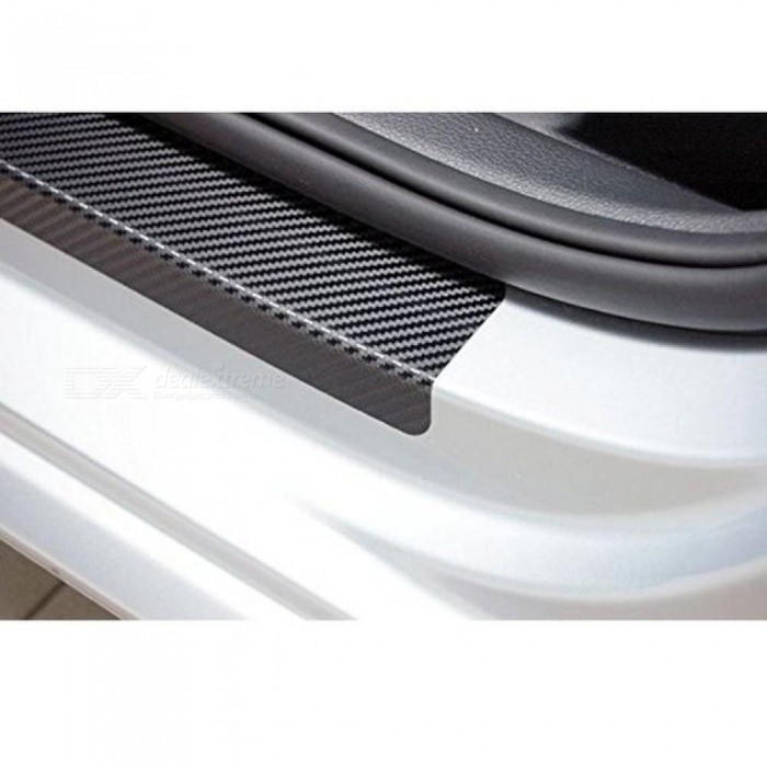 For FIAT 500X Urban Look 500X Cross Look Carbon Fiber Vinyl Sticker Car Door Sill Protector Scuff Plate  Car Accessories
