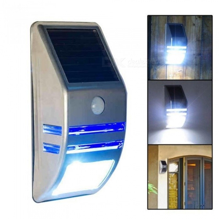 LEDs Outdoor Solar Motion Sensor PIR Security Wall Light Path Post Lamp Easy Install And Water Resistant Solar Lamp