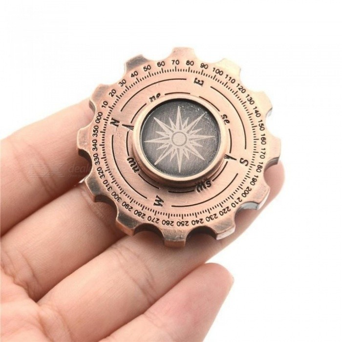 Retro HandSpinner Magic Compass Finger Metal Spinner Fidget Pirate Gear Gyro Brass EDC Adult Finger Classic Stress Toys