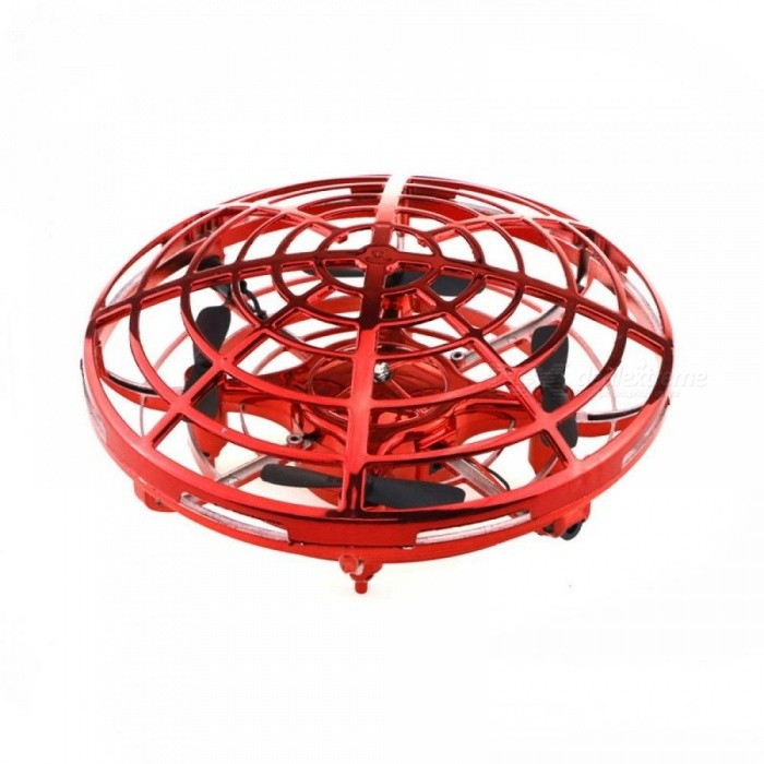 Induction UFO Four-axis Aircraft Fixed Height Anti-collision Multi-person Interactive Control Infrared Sensing Quadcopter